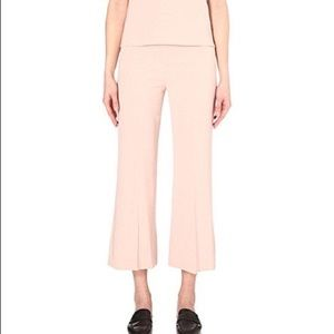 Theory laleenka bootcut cropped crepe trousers