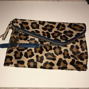 Henri bendel leopard debutante clutch