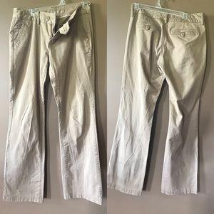 Maurice's flare khakis size 7/8 long