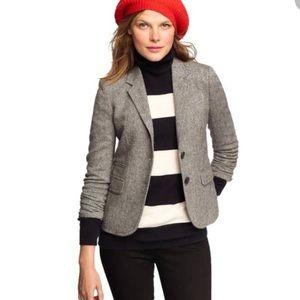 J Crew Gray Schoolboy Blazer Classic Donegal Tweed
