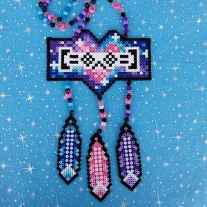 Jewelry - Porter Robinson galaxy perler kandi rave necklace