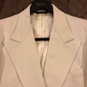 Other - Webster Solid Off-White Peak Lapel Sport Coat 40R