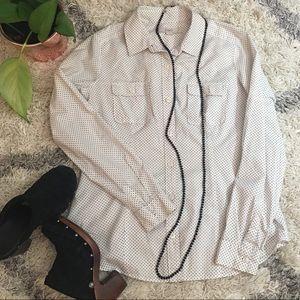 Ann Taylor LOFT Polka Dot Button-Up Shirt