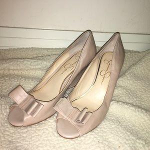 • Jessica Simpson's Peak Toe Wedge •