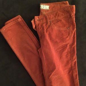 Free People brunt orange size 25 skinny jeans
