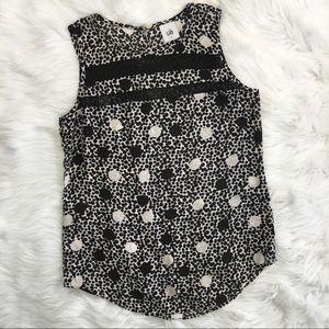 CAbi Black and White Polka Dot Shirt Style #3079