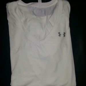 White heat gear v-neck t-shirt
