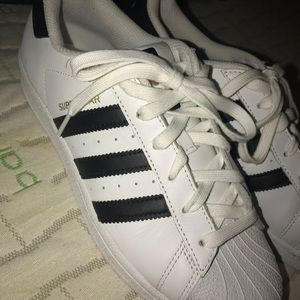 ADIDAS SHELL TOE SHOES. PRACTICALLY NEW