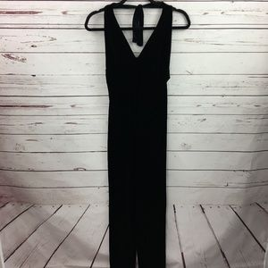 Vintage Guess Black Velvet Halter Jumpsuit