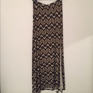Tribal Print Maxi-Skirt