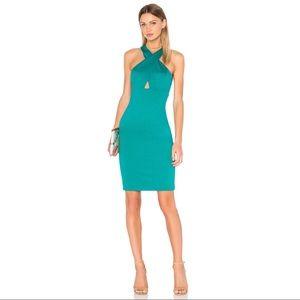 NWT $264 Alice + Olivia Tai Turquoise Midi Dress