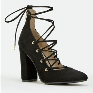 Lace up sutton heels