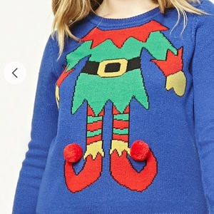 Forever 21 Plus Size 1X Elf Christmas Sweater