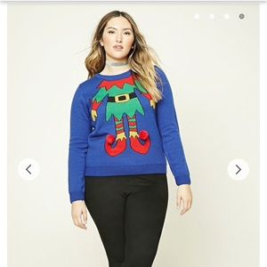Forever 21 Sweaters Plus Size 1x Elf Christmas Sweater Poshmark