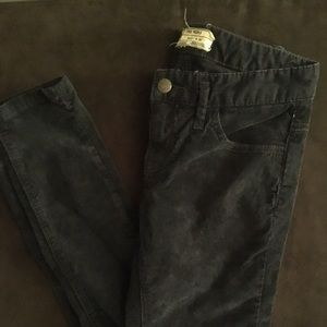 Free People size 24 navy corduroy skinny jeans