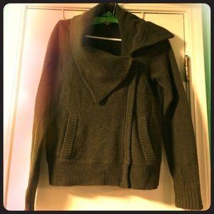 J. Crew moto sweater. Lambs wool.