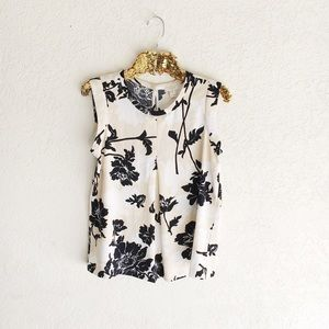 J. Crew Printed Pleated Front Crepe Top