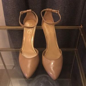 Jessica Simpson nude shoes