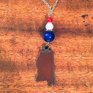 Jewelry - 💙🏈❤️Ole Miss Mississippi Theme Necklace❤️🏈💙