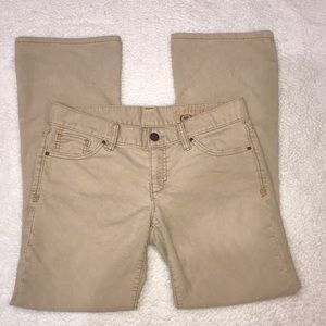 GAP Limited Edition Khaki Corduroy Pants 8 Ankle