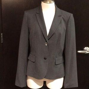 NWT Calvin Klein Size 8 Gray Blazer With Pockets