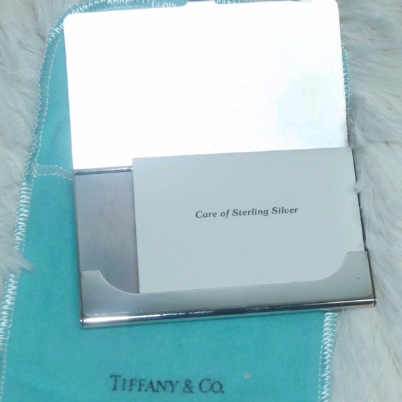 Tiffany co accessories tiffany and co silver plated business tiffany and co silver plated business card case colourmoves Choice Image