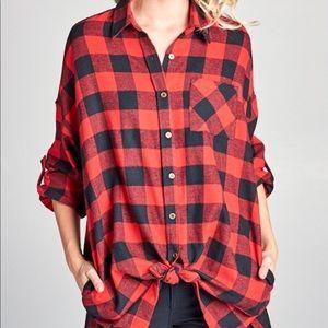 Tops - •LAST ONE• Oversized Boyfriend Flannel