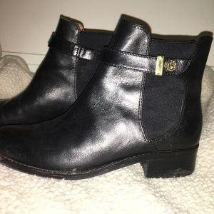 • Louise Et Cie Black Leather Ankle Boots •