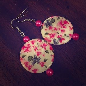 Jewelry - 💖✨Pink Floral Mother Of Pearl Earrings✨💖