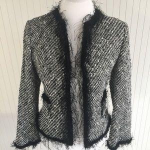 Brand New Zara Woman Tweed Jacket Sz 6