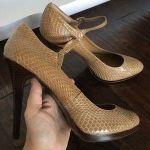 Ralph Lauren Genuine Snakeskin Leather High Heels