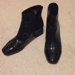 Black Women's Zara booties, size 7 US (37 UK)