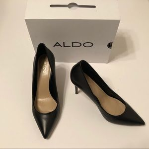 Aldo Black Leather Pumps - Size 6.5