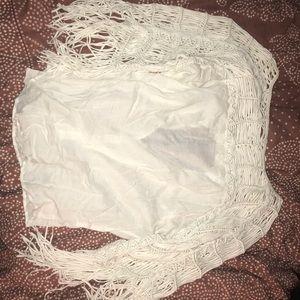 White fringe zara tunic