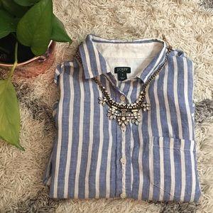 J.Crew Linen Button-Up Blouse