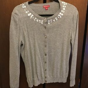 Grey Merona jeweled cardigan