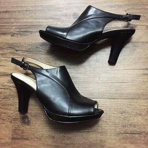 Naturalizer N5 'Danby' Peep Toe Sling Back Heels