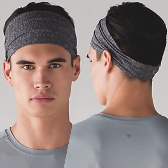 NWT Lululemon Men s Assert Headband heathered blk 10128c0cd9c