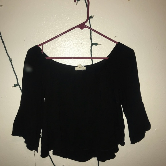 f9620cf14cc226 black flowy off the shoulder top! M_5a1628b0d14d7b9a3d00d1ce