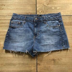 Forever 21 Denim Stud Shorts