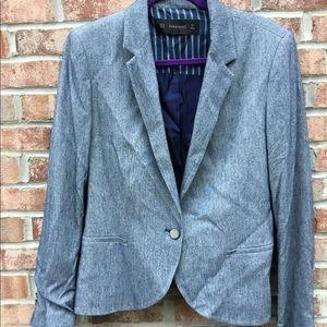 Zara basics cotton blazer