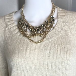 J. Crew gold tone jeweled necklace
