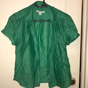 🛑BANANA REPUBLIC Green Button down dress shirt🛑
