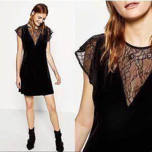 NWT Zara velvet lace holiday dress size Med