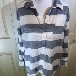 Merona • striped chambray top