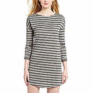 BB Dakota Gray Striped Nina Sweater Dress