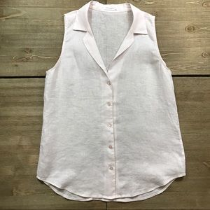 Equipment Linen Sleeveless Blouse
