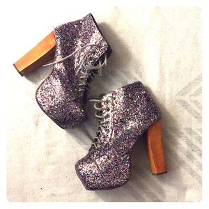 Jeffrey Campbell Lita Glitter Boots