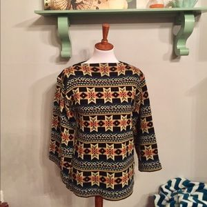 Vintage boho bell sleeve pullover sweater