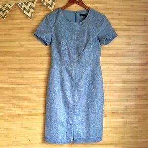 Banana Republic Size 0 Blue Wool Sheath Dress